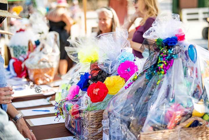 Fiesta Margaritaville silent auction baskets